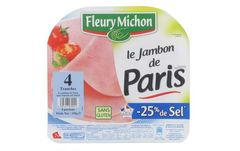 4 tranches jambon cuit -25% sel, Fleury Micho...
