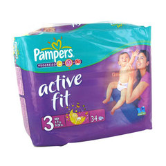 Couches active fit, taille 3 : 4-9kg, Sesame Street, le paquet de 34