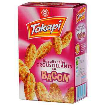Biscuits Tokapi croustillants Bacon 85g