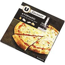 Pizza 4 fromaggi U LES SAVEURS, 400g
