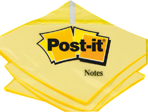 Notes adhesives repositionnables, 76 x 127mm, 100 feuilles, L'unite