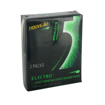 Five Electro menthe verte magnetique, 2x12 sticks, 62g