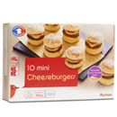 Auchan mini cheeseburgerx10 150g