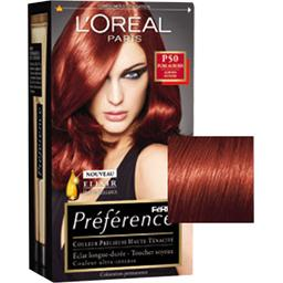 prfrence loral paris coloration permanente 466 rouge profond intense - Coloration Rouge L Oreal
