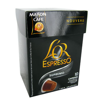 Cafe l'or espresso Maison Cafe Supremo x10 capsules 52g