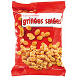Auchan cacahuetes grillees et salees 1 x 250g