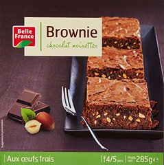 Belle France Brownie Chocolat Noisettes 285 g - Lot de 4