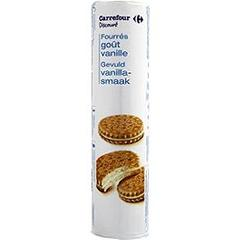 Biscuits fourres gout vanille
