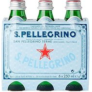San Pellegrino Sparkling Natural Mineral Water (6x250ml) - Pack of 2
