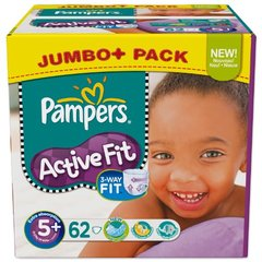 Couches Pampers Active Fit Jumbo box T5 x64