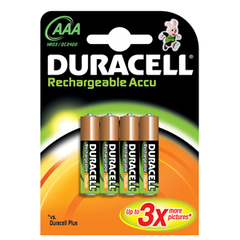 Duracell - 75052472 - Pile Rechargeable - AAA x 4 - Accu