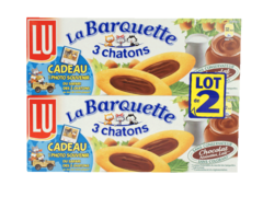 Barquettes 3 chatons choc. noisette