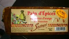 Pain d'épices aux écorces d'Orange