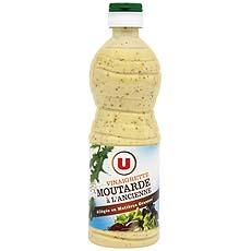 Vinaigrette allegee a la moutarde a l'ancienne U, 50cl