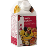 Auchan 100% pur jus multifruits 50cl