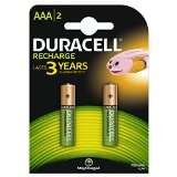 Duracell - Recharge - Piles Rechargeable AAA - 750 Mah - Pack de 2