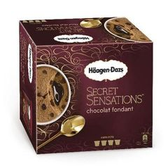 Creme glacee Secret Sensation chocolat fondant HAAGEN DAZS, 4x100ml