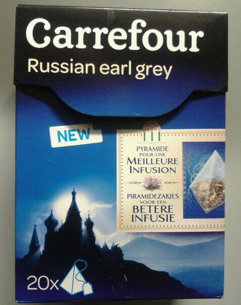 Thé russian earl grey Carrefour