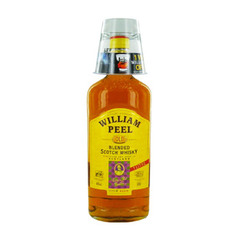William peel scotch whisky 40° -1l + verre on pack