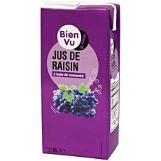 Jus de raisin a base de concentre BIEN VU, 1l