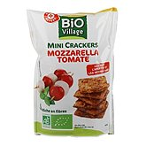 Mini crackers Bio Village Tomate/mozzarella - 110g