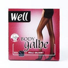 Collant voile Body Galbe WELL, taille 4, noir