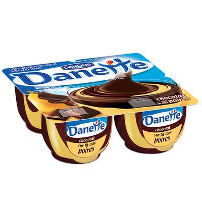 Danette chocolat sur lit de poire 4x125g - Tous les