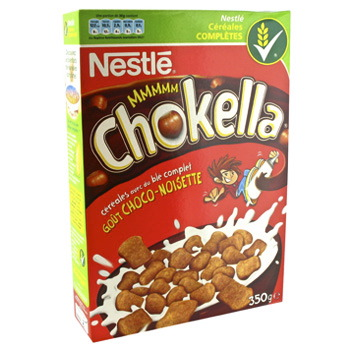 Cereales : Chocapic chokella gout choco-noisette