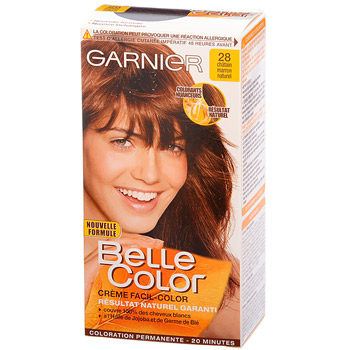 coloration belle color n28 chatain marron - Shampoing Colorant Naturel