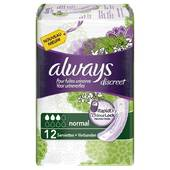 Always discreet serviettes incontinence normal X12