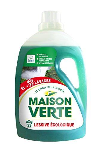 Maison verte lessive ecologique 33 doses 2l tous les produits poudre et li - Maison verte lessive ...
