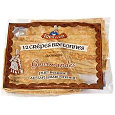 12 Crepes de froment TREMVEN, 350g