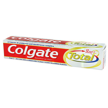 Dentifrice formule blancheur COLGATE Total, 75ml