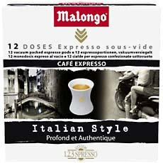 cafe en dosettes expresso italian style malongo 32 unites 78g tous les produits caf s en. Black Bedroom Furniture Sets. Home Design Ideas