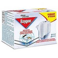 Baygon, Diffuseur liquide Genius 30 nuits, le diffuseur + 1 recharge