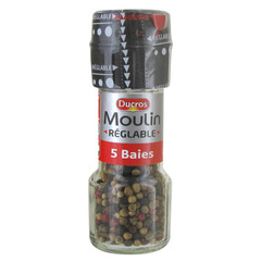 Poivre moulin 5 baies 24g