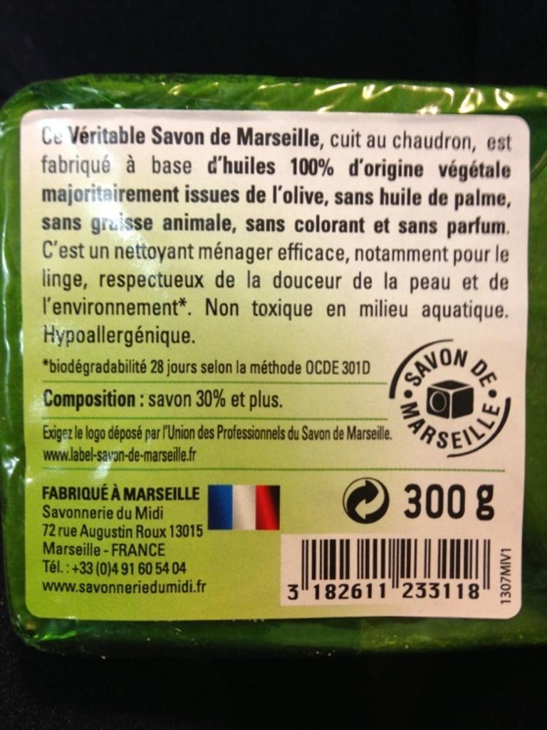 Savon de marseille a l 39 huile d 39 olive cuit au chaudron - Savon de marseille veritable ...