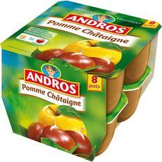 Dessert fruitier Andros Pomme chataigne 8x100g