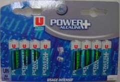 Piles super alcaline LR6 Power Plus U, 8 unites