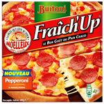 Pizza Fraich'Up au pepperoni BUITONI, 600g