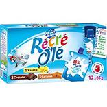 Goûters laitiers vanille chocolat caramel RECRE OLE, 12x85g