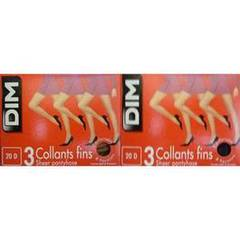 3 Collants mousse fins DIM, taille 6, sarrazin