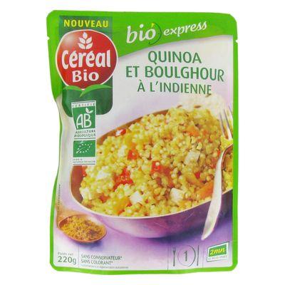 Quinoa boulghour indienne cereal bio doy pack de 220g - Plats cuisines sans gluten ...