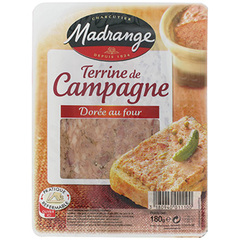 Terrine de campagne doree au four MADRANGE, 180g