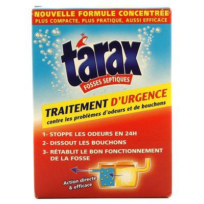 tarax fosses septiques traitement d 39 urgence odeurs et bouchons la boite de 200 g tous les. Black Bedroom Furniture Sets. Home Design Ideas