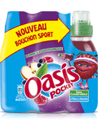 Oasis Pomme Cassis Framboise - Bouchon Sport