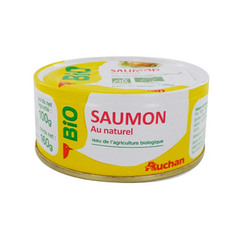 saumon bio au naturel auchan 100g
