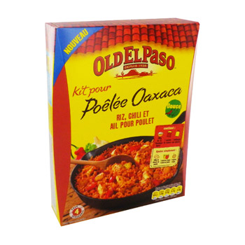 OLD EL PASO PRET A CONSOMMER KITS BASE RIZ CLASSIQUE POELEE OAXACA 355G STD