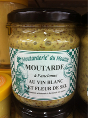 Moutarde à l'ancienne au vin blanc et fleur de sel, MOUTARDERIE DU MOULIN, 200g