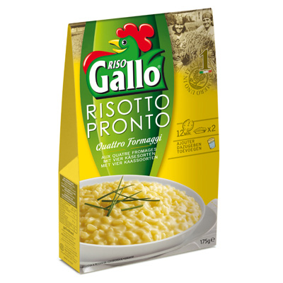Risotto pronto aux 4 fromages Riso Gallo 175g